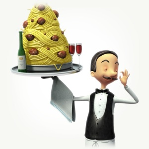 Lloyds TSB Waiter illustration