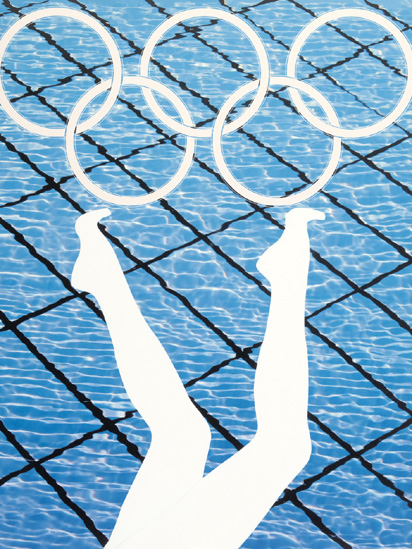 Anthea Hamilton - Divers - Olympics Poster