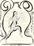 Chris Ofili - For the Unknown Runner - Olympics Poster
